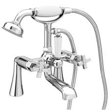 olympia art deco bath shower mixer tap shower kit at victorian