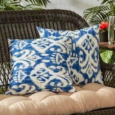 Outdoor Pillow Slipcovers Ikat Decorative Pillows You U0027ll Love Wayfair