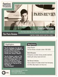 Trading Card Designer George Plimpton George Plimpton Trading Cards American Masters