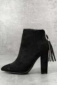 click to buy selling pointed toe boot chic black booties vegan suede booties pointed toe boots