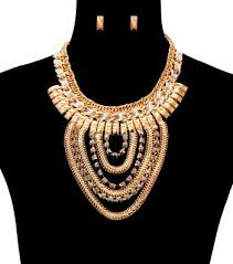 gold costume necklace images Necklace and earrings set collection expressions by cheree jpg