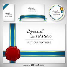 best design invitation card template vector free