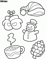 winter coloring sheets for kindergarten coloring page coloring