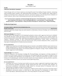 Project Manager Resume Examples by Manager Resume Sample Templates 43 Free Word Pdf Documents