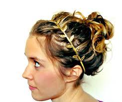 gold leaf headband leaf headband fabric leaf grecian headband by littleblueolive