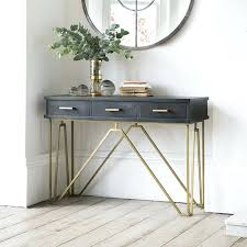 narrow metal console table narrow entry table with drawers best small console tables ideas on
