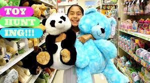 toy hunting play doh halloween shopkins huge stuffed animals