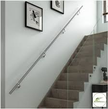 chrome banister rails stairs wall mounted handrail full kit in chrome or brushed nickel