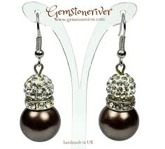 earrings uk brown chocolate pearls earrings gemstoneriver
