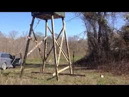 4x4 Elevators Deer Blind How To Raise A Box Deer Stand Youtube
