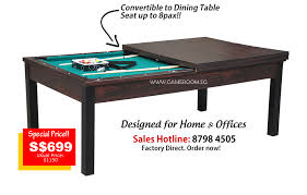 Convertible Pool Table by Singapore Leading 2 In 1 Dining Top Pool Table Factory Outlet