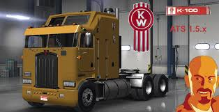 kenworth aerodyne truck kenworth k100 american truck simulator mods ats mods