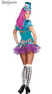 Womens Mad Hatter Halloween Costume Totally Mad Costume Neon Mad Hatter Costume Hatter Costume