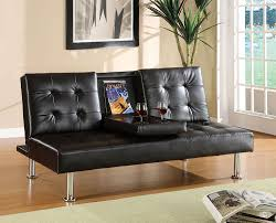 modern futon amazon com furniture of america farrah modern leatherette futon