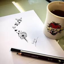 drawing dandelion design made by roos da linci