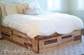 Build A Platform Bed With Drawers by Ana White Brandy Scrap Wood Storage Bed With Drawers Diy Projects
