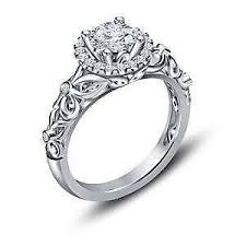 silver diamond rings sterling silver engagement rings ebay