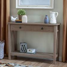 Skinny Foyer Table Skinny Wood Console Table With Two Drawers And Low To The Ground