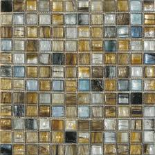 3 4 x 3 4 interglass murano golden blue mosaic tile accent used