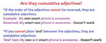 cumulative adjectives definition order u0026 examples study com