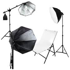 Photography Lighting Kit 3x Octagon Softbox Product Photo Lighting Kit With Plexiglass