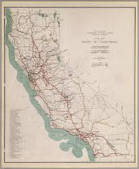 California State Map by Road Map Of The State Of California 1930 David Rumsey