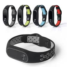 silicone strap bracelet images Bakeey replacement double color silicone strap smart wristband jpg