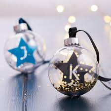 personalised initial bauble by posh totty designs creates