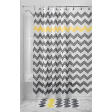 Grey And Yellow Shower Curtains Sweet Home Collection Shimmer Gold Bathroom Fabric Shower Curtain