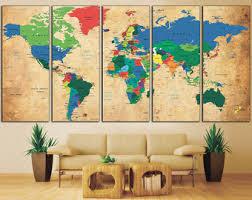 Push Pin Travel Map Spectacular World Map Wall Decor Wall Art
