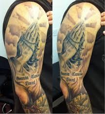 45 cool clouds shoulder tattoos