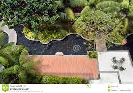 modern condominiums garden landscaping stock photography image landscaping design garden pool stock photography