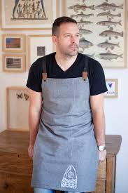 tablier de cuisine montreal tablier pour homme coton gris ou anthracite denim