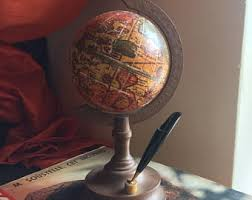 Small Desk Globe Vintage Small Globe Etsy