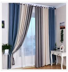 Blue Grey Curtains Blue And Grey Curtains Teawing Co