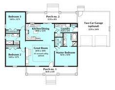 Single Story Ranch Homes One Story House Plans With Open Concept Eva U2013 1 500 Square Feet