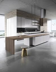 cuisine sol gris une cuisine au sol et plafond gris béton 7 styles de cuisine