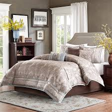 Blue Bed Set Sabelle Taupe Bed Comforter Set Home Apparel