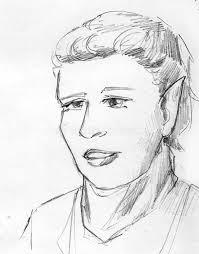 elf pencil sketch stock illustration image of female 59858109