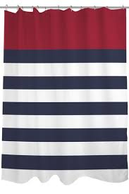 Kate Spade Striped Shower Curtain Nautical Stripes Red Shower Curtain By Lightning E Commerce On
