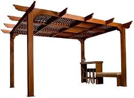 Pictures Of Pergolas by Pergola With Lattice Cover I Like This Natural Looking Shade
