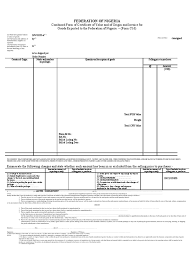 ccvo template cargo invoice