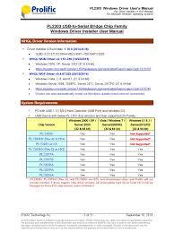 pl2303 windows driver user manual v1 10 0 device driver