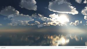 3d animation timelaps clouds over the sea 1920x108 stock animation