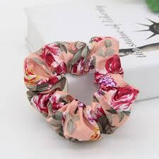 hair tie holder lovingsha floral print vintage design women scrunchie women hair