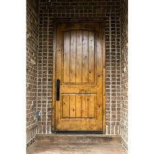 Knotty Alder Interior Door by Krosswood Knotty Alder 2 Panel Top Rail Arch With V Groove
