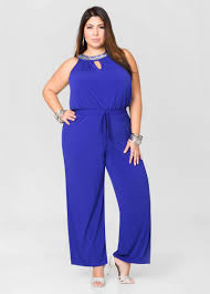 plus jumpsuit rhinestone keyhole wide leg jumpsuit plus size jumpsuits