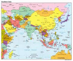 Blank Map Of Southeast Asia by Political Map Of Asia With Countries And Capitals You Can See A