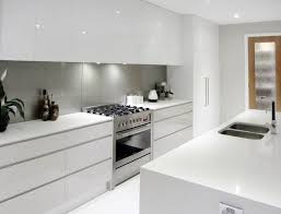All White Kitchen Cabinets Contemporary White Kitchen Grey Splashback I For Design
