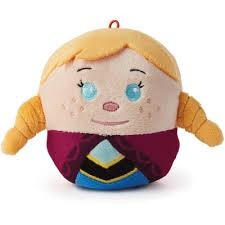 hallmark frozen anna fluffball plush christmas tree ornament